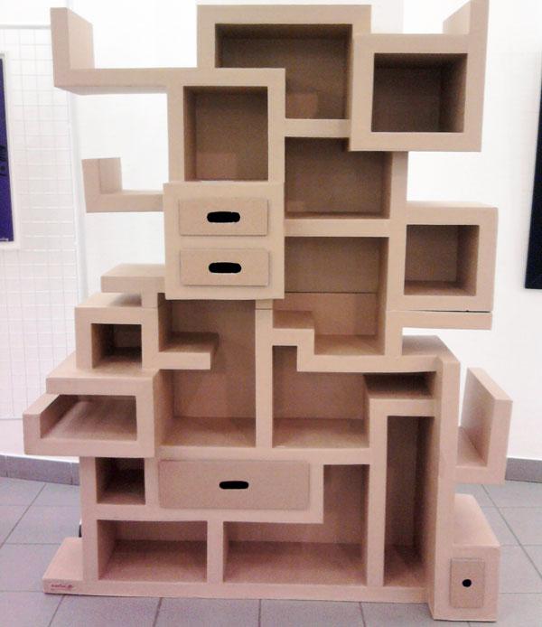 cr er des meubles et recycler le carton en respectant l environnement blog maison cologique. Black Bedroom Furniture Sets. Home Design Ideas