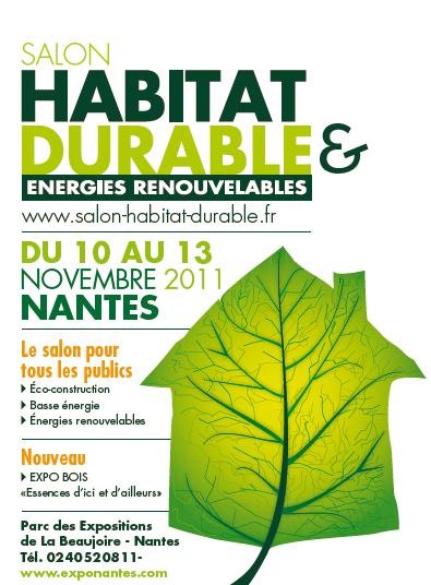 Salon de l 39 habitat durable des nergies renouvelables for Salon energie renouvelable