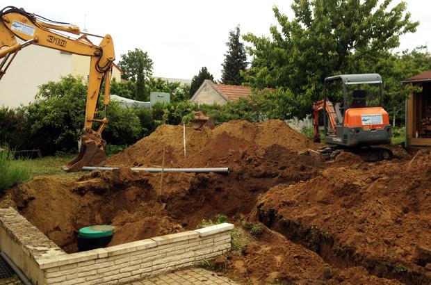 travaux cuve enterrée