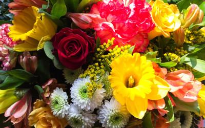 Des fleurs pour la fête des grands-mères