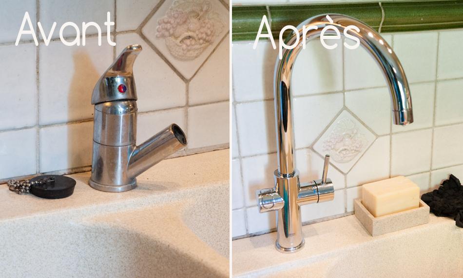 Un seul robinet pour une eau filtrée, gazéifiée et eau du réseau sans filtration